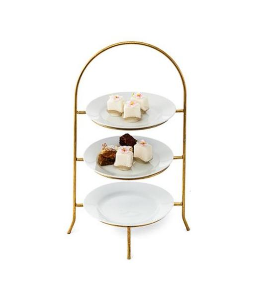 1120-Gold Plate Stand