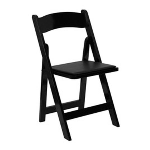 Black Classic Padded Folding Chair