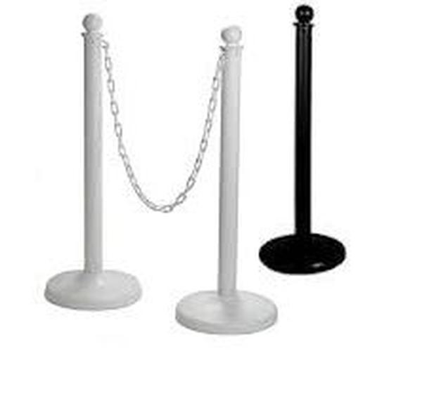 Black & White Plastic Stanchion