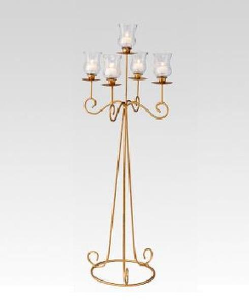 Candelabra 33inc 5 light gold