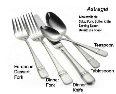 ASTRAGAL STAINLESS STEEL FLATWARE