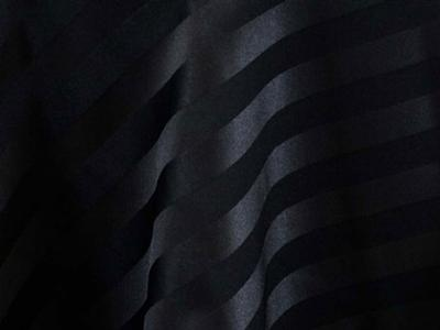 Black Satin Stripe