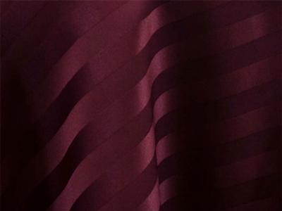 Burgundy Satin Stripe