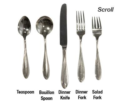 Scroll Stainless Steel Flatware