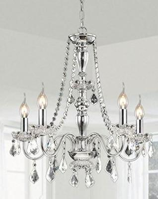 ~~5 light chrome crystal chandelier